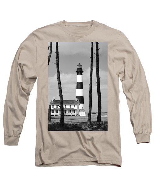 Bodie Island Lighthouse In The Outer Banks Long Sleeve T-Shirt