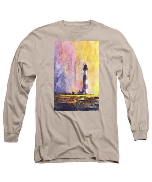 Bodie Island Lighthouse Long Sleeve T-Shirt by Ryan Fox