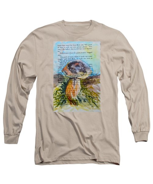 Long Sleeve T-Shirt featuring the painting Boletus Edulis by Beverley Harper Tinsley