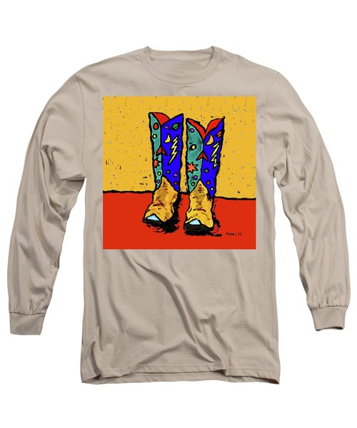 Boots On Yellow Long Sleeve T-Shirt