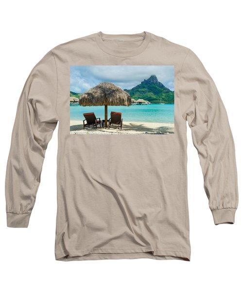 Bora Bora Beach Long Sleeve T-Shirt