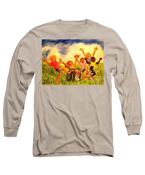 Long Sleeve T-Shirt featuring the pastel Born To Be Free by Hazel Holland