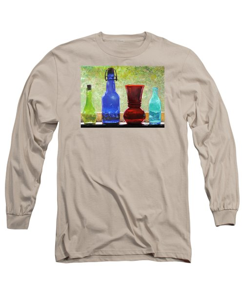 Da142 Bottles Of Time Daniel Adams Long Sleeve T-Shirt
