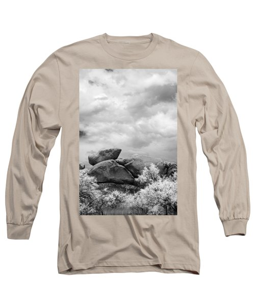 Boulders In Another Light Long Sleeve T-Shirt by Michael McGowan