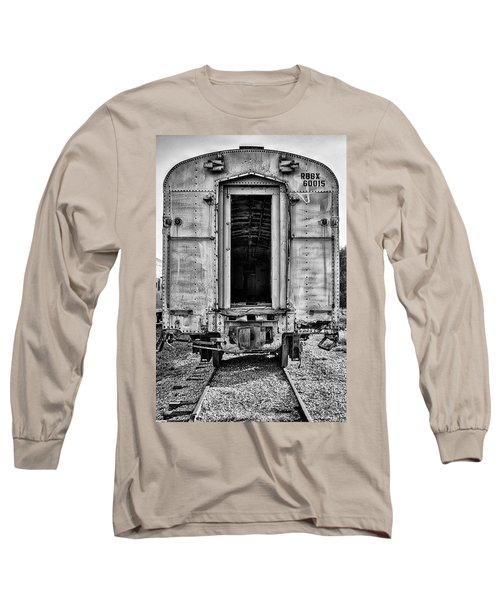 Box Car In Bw Long Sleeve T-Shirt by Michael White