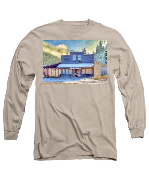 Long Sleeve T-Shirt featuring the photograph Brauer Real Estate Linwood Kansas by Liane Wright
