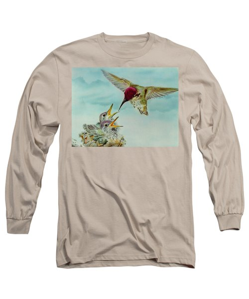 Breakfast Long Sleeve T-Shirt by Thomas J Herring