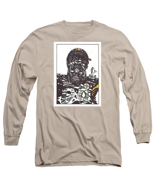 Brett Keisel 2 Long Sleeve T-Shirt by Jeremiah Colley
