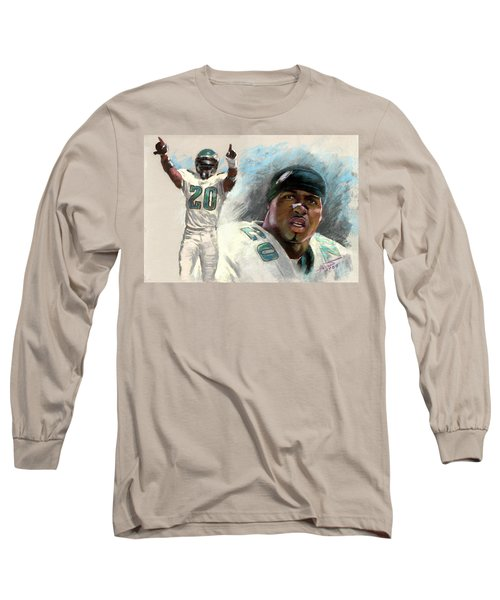 Brian Dawkins Long Sleeve T-Shirt by Viola El