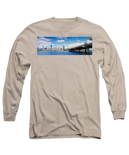 Bridge Across A Canal, Lachine Canal Long Sleeve T-Shirt