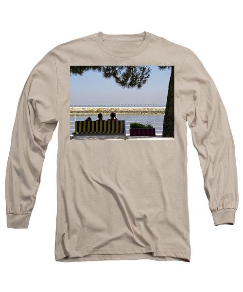 Bridge Over The Tejo River Long Sleeve T-Shirt