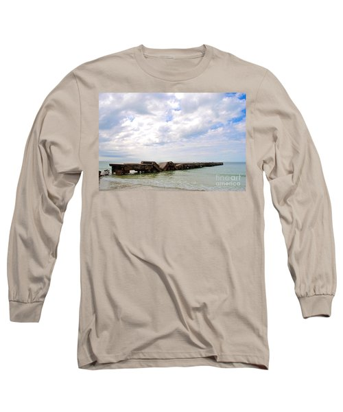 Bridge To Nowhere Long Sleeve T-Shirt by Margie Amberge