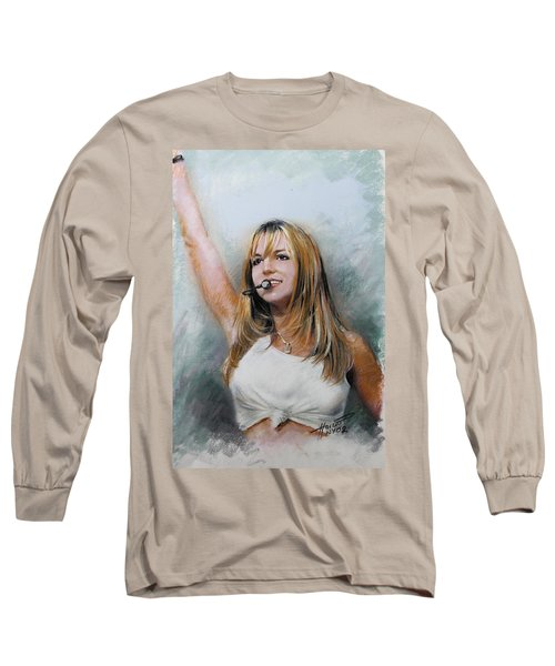 Britney Spears Long Sleeve T-Shirt by Viola El