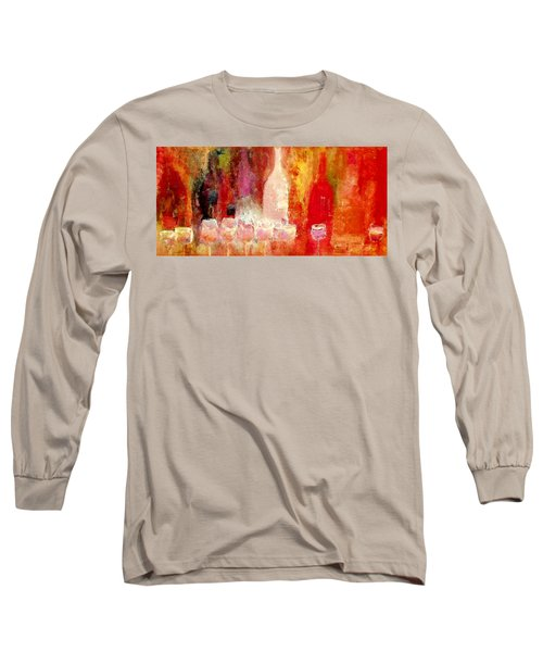 Long Sleeve T-Shirt featuring the painting Broadway Wine Chorus  by Lisa Kaiser