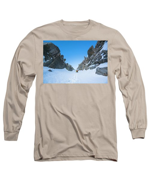 Brody Leven Climbing Wasatch Mountains Long Sleeve T-Shirt