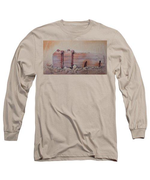 Long Sleeve T-Shirt featuring the painting Broken Dock Seward Alaska by Richard Faulkner