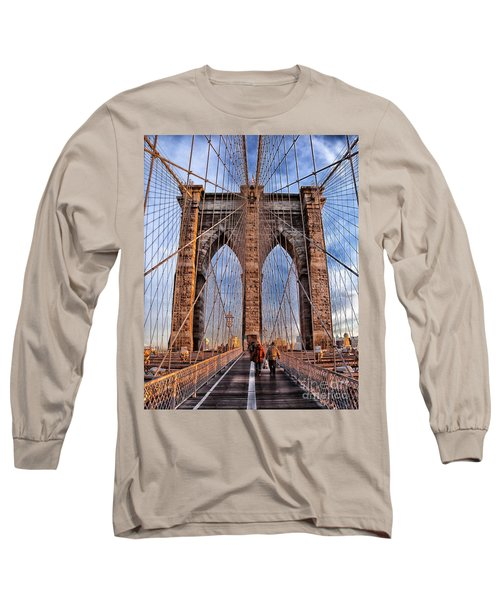 Long Sleeve T-Shirt featuring the photograph Brooklyn Bridge by Paul Fearn