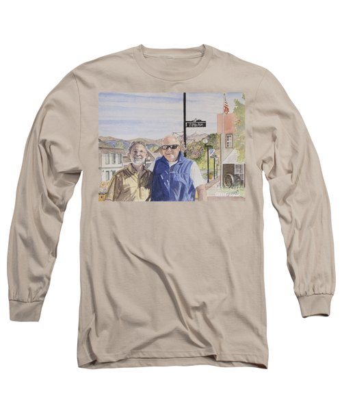 Long Sleeve T-Shirt featuring the painting Bros by Carol Flagg