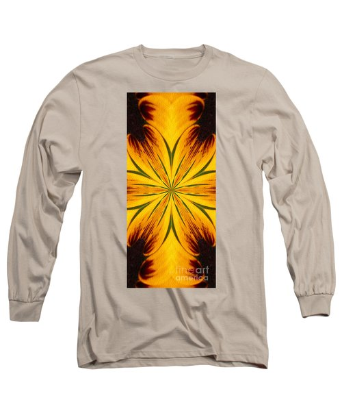 Brown And Yellow Abstract Shapes Long Sleeve T-Shirt