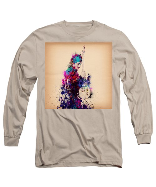 Bruce Springsteen Splats And Guitar Long Sleeve T-Shirt