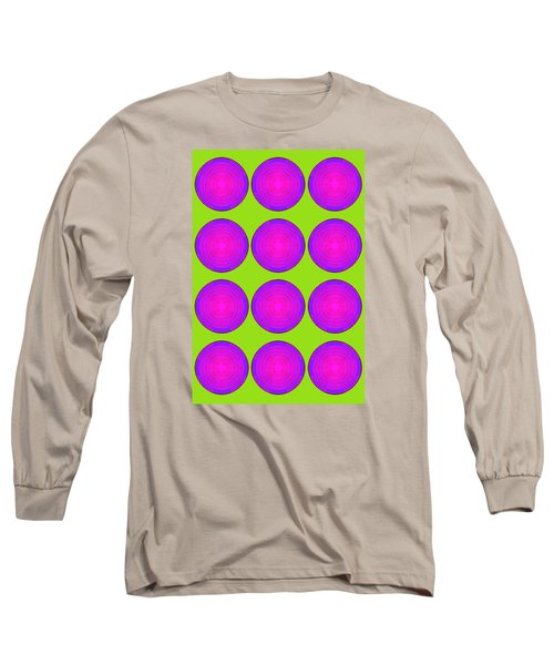 Bubbles Lime Purple Poster Long Sleeve T-Shirt