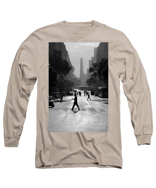 Long Sleeve T-Shirt featuring the photograph Buenos Aires Obelisk II by Bernardo Galmarini