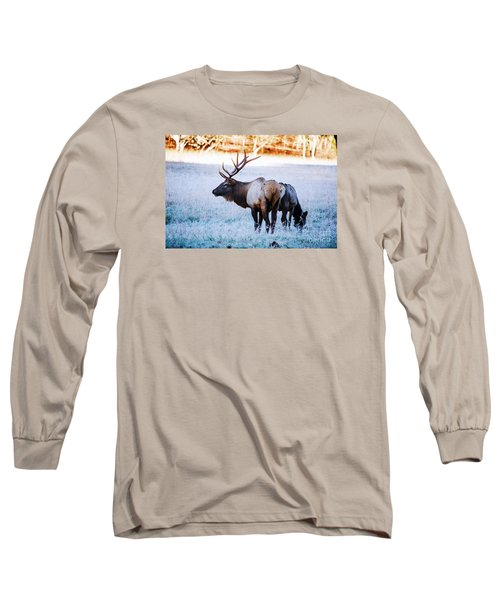 Bull Elk And Cow Long Sleeve T-Shirt
