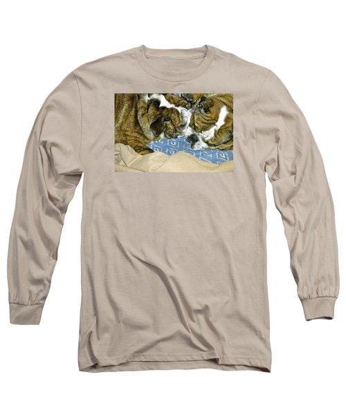 Bulldog Love Forever  Long Sleeve T-Shirt by Lehua Pekelo-Stearns