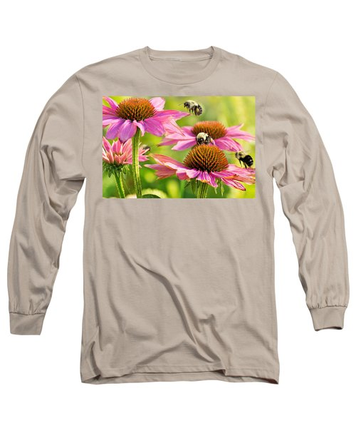 Bumbling Bees Long Sleeve T-Shirt by Bill Pevlor
