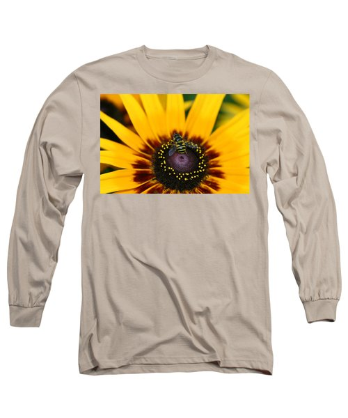 Long Sleeve T-Shirt featuring the photograph Busy Bee by Denyse Duhaime