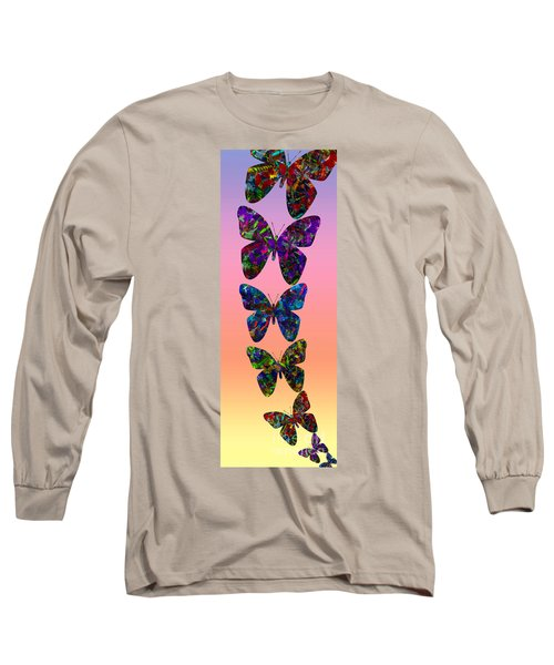 Long Sleeve T-Shirt featuring the photograph Butterfly Collage IIII by Robert Meanor