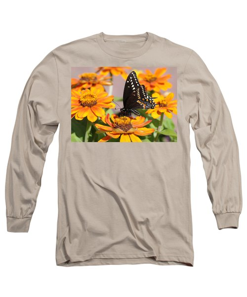 Butterfly In Living Color Long Sleeve T-Shirt by Greg Graham