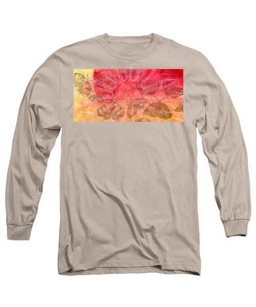 Long Sleeve T-Shirt featuring the digital art Butterfly Letterpress Watercolor by Kyle Hanson