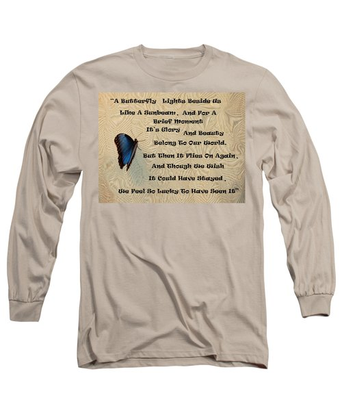 Butterfly Poem Long Sleeve T-Shirt