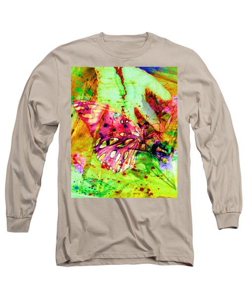 Butterfly That Was A Muscian Long Sleeve T-Shirt