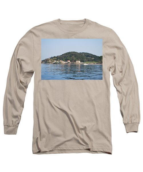 Long Sleeve T-Shirt featuring the photograph By The Sea by George Katechis