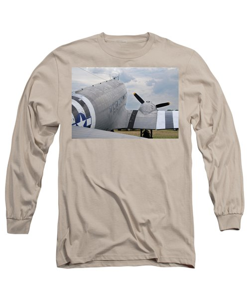 Long Sleeve T-Shirt featuring the photograph C-47 3880 by Guy Whiteley