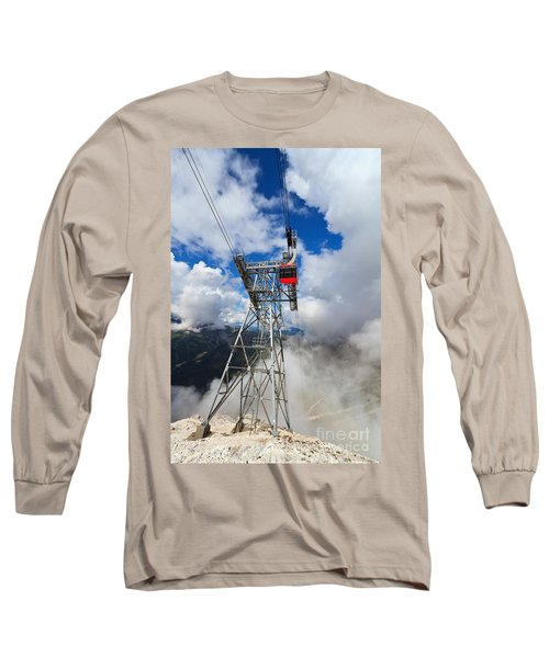 cableway in Italian Dolomites Long Sleeve T-Shirt