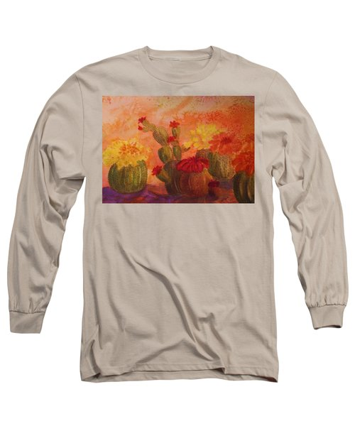 Cactus Garden Long Sleeve T-Shirt by Ellen Levinson