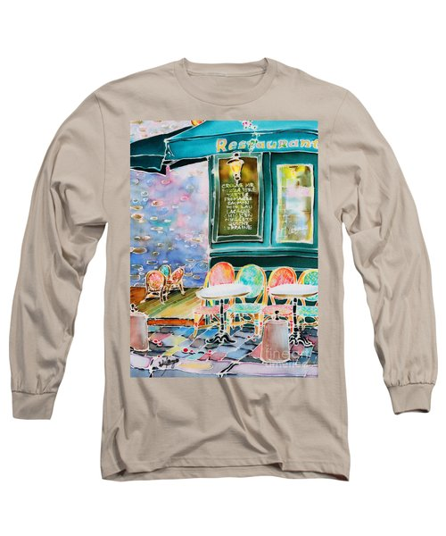 Cafe In Montmartre Long Sleeve T-Shirt