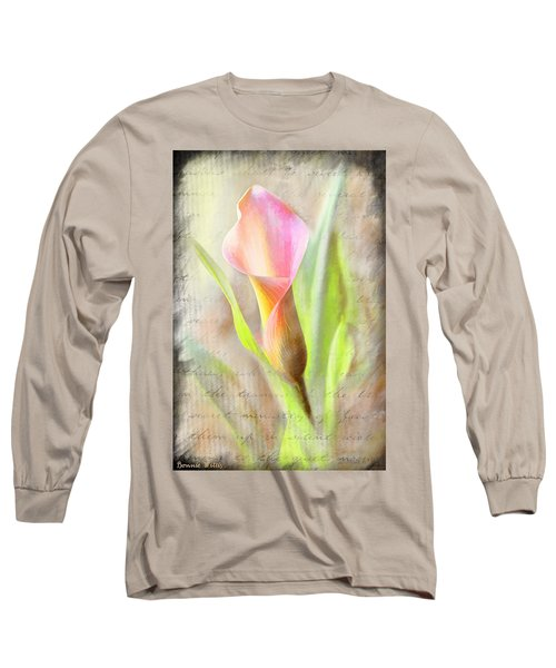 Calla Lily In Pink Long Sleeve T-Shirt