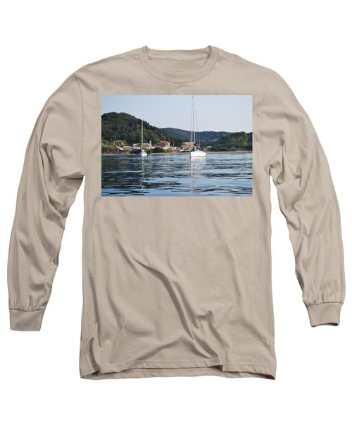 Calm Sea 2 Long Sleeve T-Shirt by George Katechis