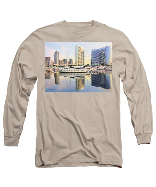 Calm Summer Morning Long Sleeve T-Shirt by Jane Girardot