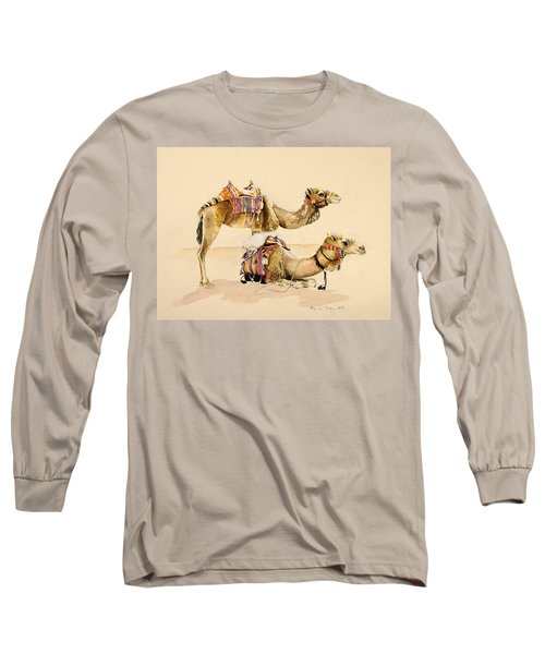 Camels From Petra Long Sleeve T-Shirt