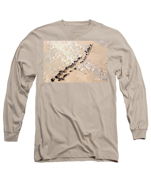 Camels Walking In Desert Long Sleeve T-Shirt