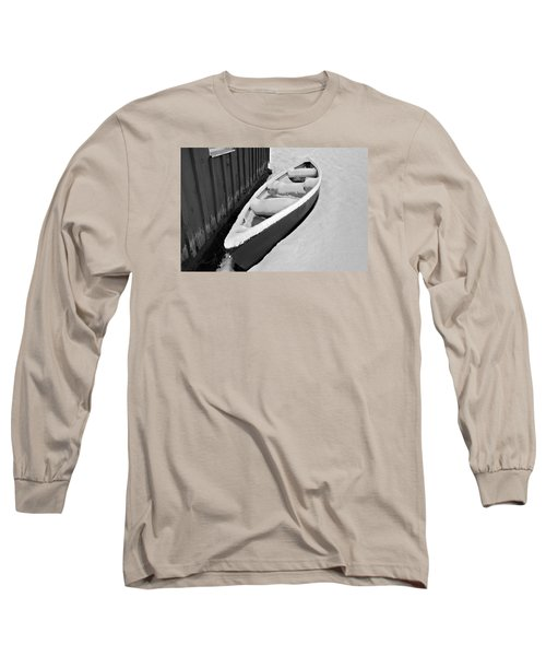 Canoe In The Snow Long Sleeve T-Shirt