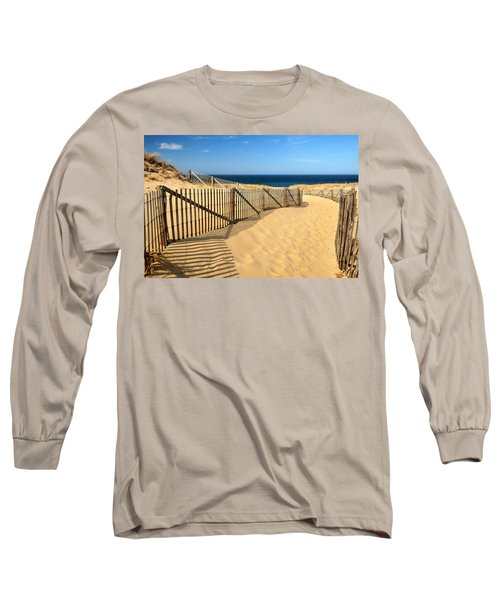 Long Sleeve T-Shirt featuring the photograph Cape Cod Beach by Mitchell R Grosky