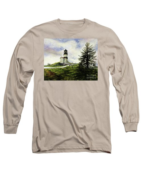 Cape Disappointment Lighthouse On The Washington Coast Long Sleeve T-Shirt