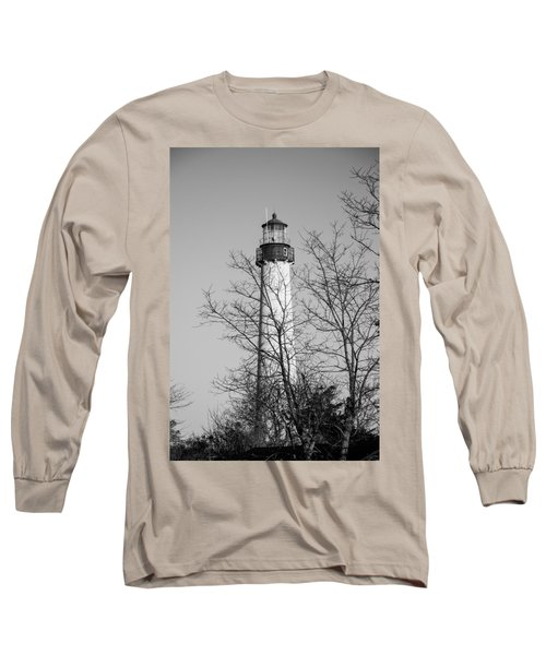 Cape May Light B/w Long Sleeve T-Shirt