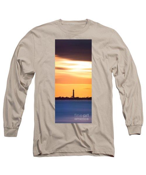 Cape May Lighthouse Narrow Long Exposure  Long Sleeve T-Shirt